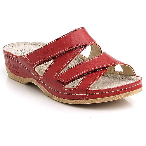 32b035320 Batz Eni High Quality Leather Womens Ladies Slip-On Sandals Clogs ...