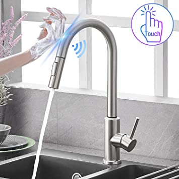 TOUCH  TOUCHLESS PULL DOWN KITCHEN FAUCET pullout tap