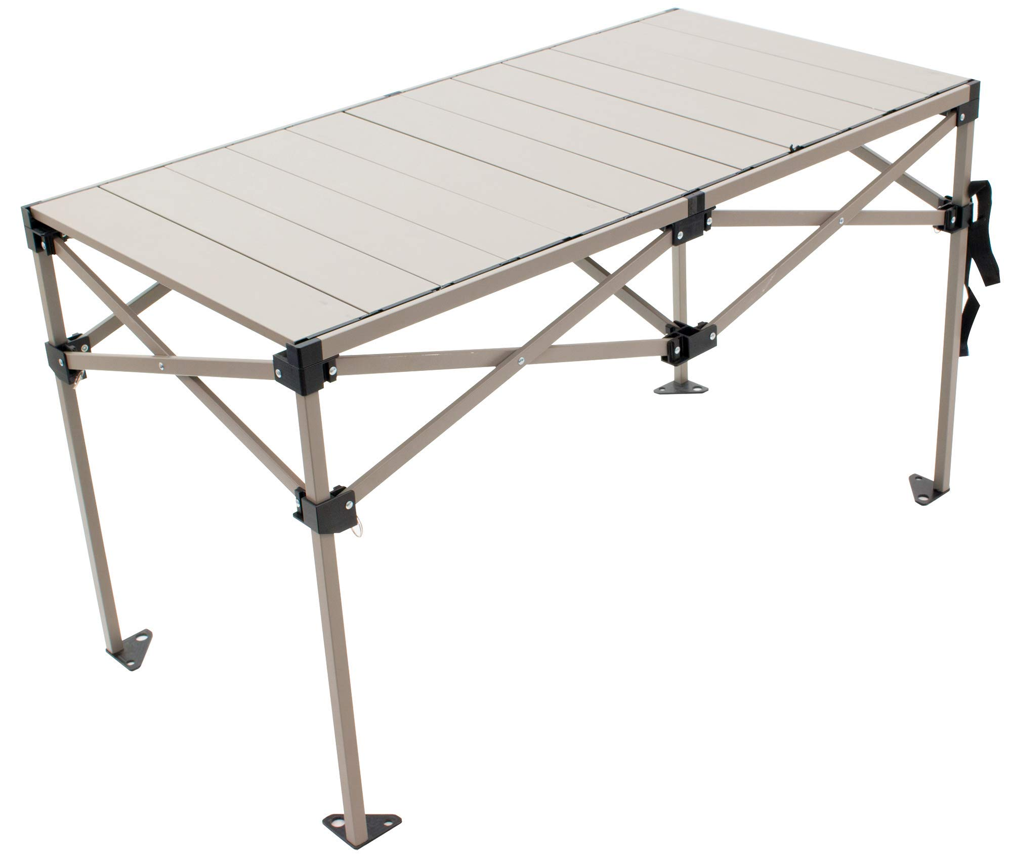 """Rio Gear 48"""" x 25"""" Outdoor Camping Aluminum Roll Top Table"""