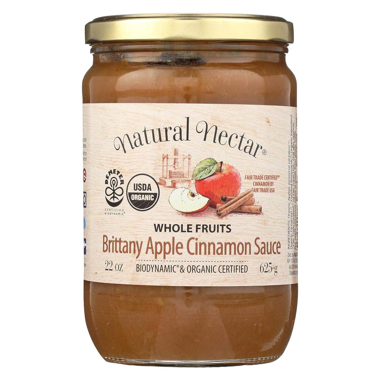 Nat Nectar Brittany Apple Sce,Og2 22.2 Oz (Pack Of 6)