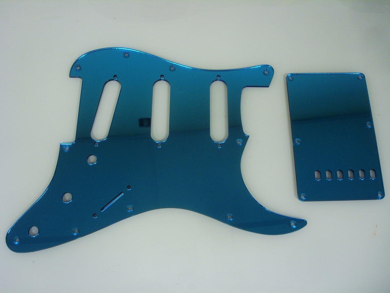 Strat Stratocaster Blue Mirror HSS pickguard set Fender