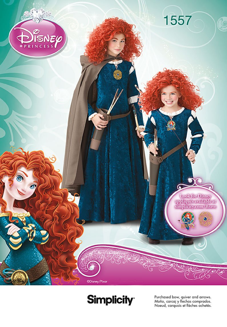 Amazon.com: Simplicity Creative Patterns 1557 Disney Brave Costumes for  Children and Girls, HH (3-4-5-6): Arts, Crafts & Sewing
