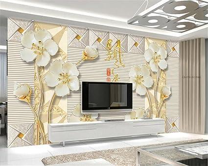 Color Prugna Per Pareti : Wapel 3d wallpaper grande rilievo in stereo di sfondo prugna fiore