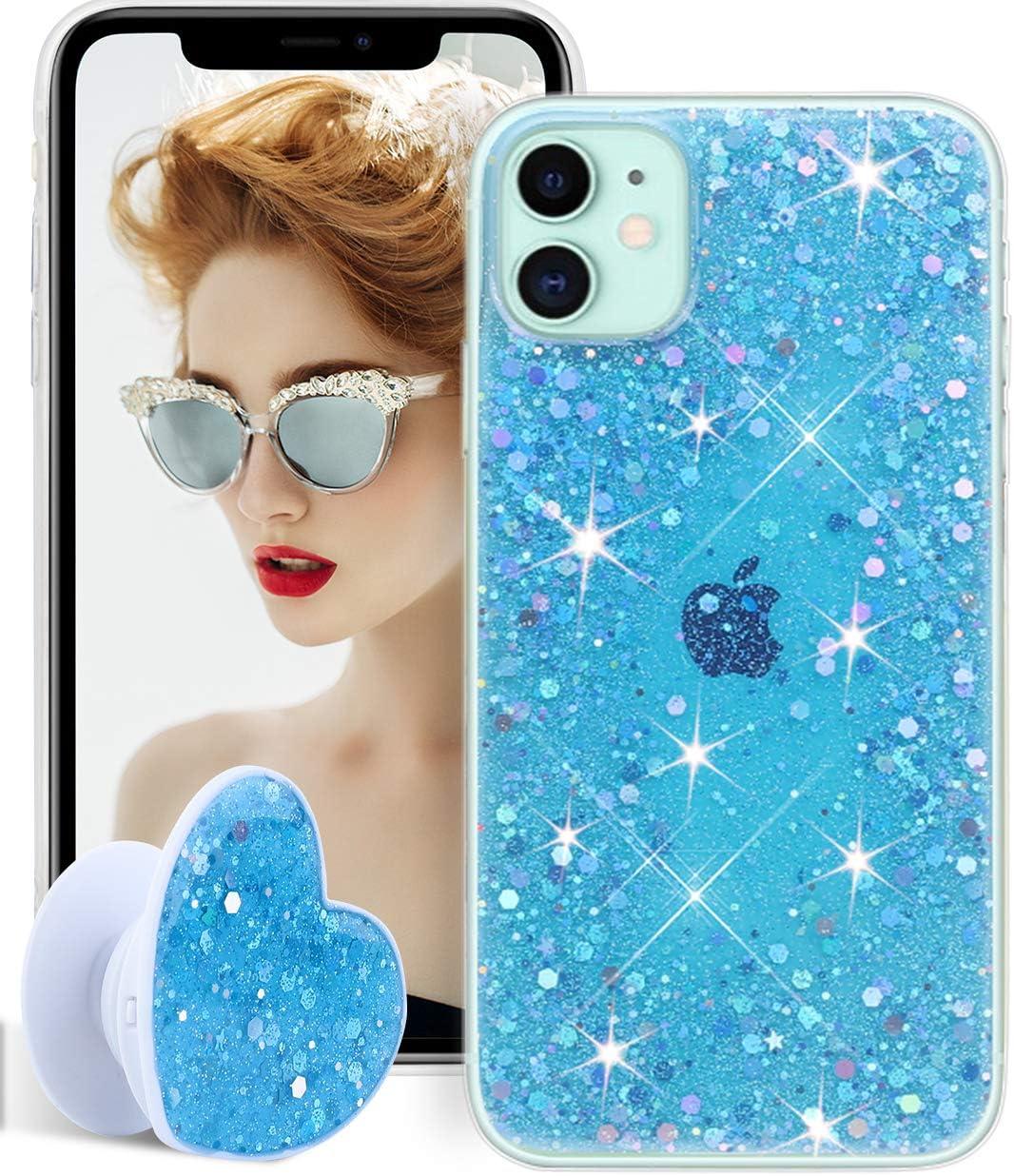 EPODA - Carcasa para iPhone 11, diseño de estrella, color azul