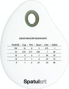 Tovolo Spatulart Measurement Conversion Bowl Scraper, Dishwasher Safe - White