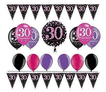 celebran fijo para 30 cumpleaños I 14 piezas Globo ...