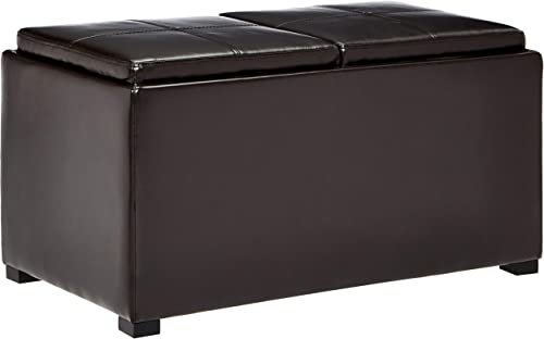 First Hill Junia Faux-Leather Storage Ottoman and 2 Small Ottoman