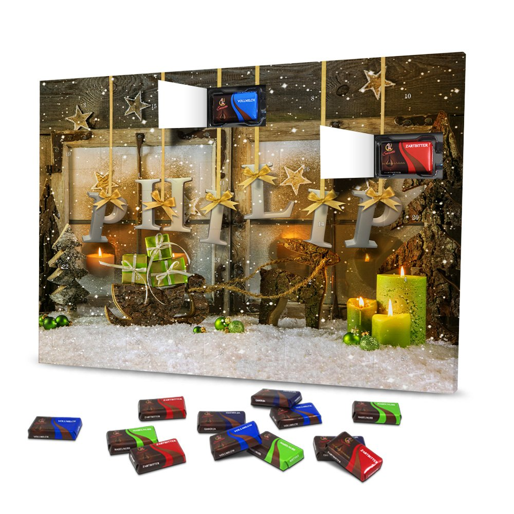 Weihnachtsdeko Material.Advent Calendar With Name Philip With Name Design Motiv