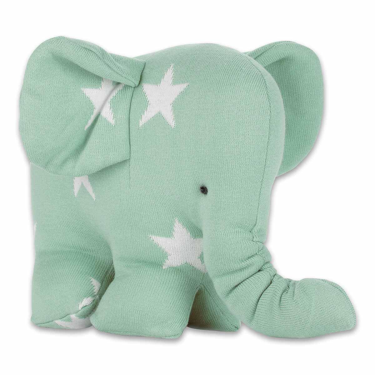 Baby's Only-Peluche Star Elephantou l'éléphant menthe et bianca (25 cm) - verde