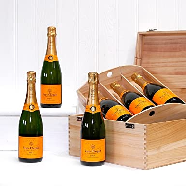 6 Bottle Deluxe 75cl Veuve Clicquot Champagne in a Luxury