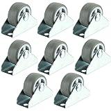 SPARES2GO Universale Divan Bed Cabinet Cassetti (Piastra Fissa) Castor Ruote (32 mm, Confezione da 8)