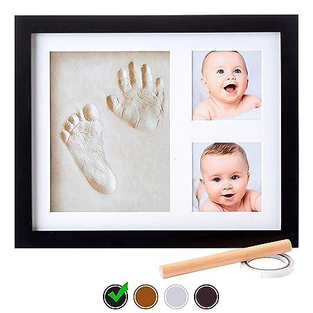 Marco para Fotos y Huellas de Bebé - Cuadro con Arcilla para ...