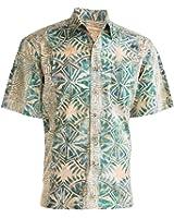 Geometric Forest Tropical Hawaiian Batik Shirt By Johari West