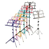 Percussion Plus Coloured Music Stand - Black