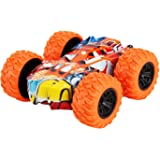 Four-Wheel Drive Off-Road Toy Car,360 Degree Rotating Off-Road Toy Car,no Battery Inertial Double-Sided Stunt Friction…