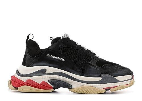 sneakershop Balenciaga Triple-S Sneaker - Zapatillas Para Mujer Negro/Rojo Size: 36 EU: Amazon.es: Zapatos y complementos