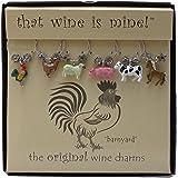Wine Things WT-1439P Barnyard Wine Charms, Painted