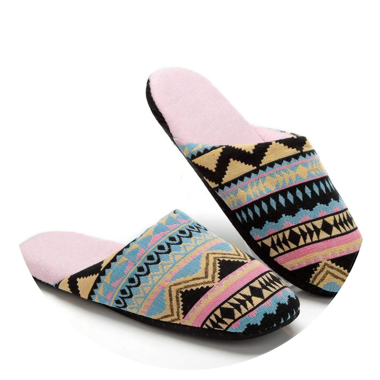 Fashion Winter Warm Indoor Slippers Women Soft Bottom Non-Slip Flat Shoe
