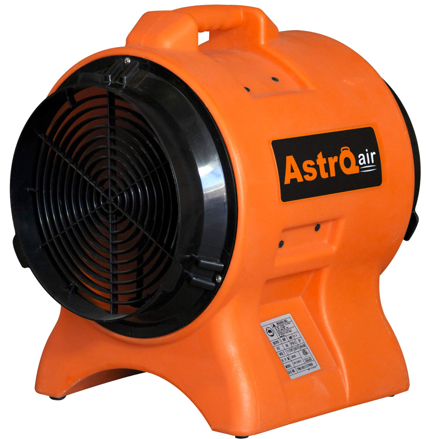 AstroDry 12' Axial Blower 1HP High Velocity Utility Air Mover Carpet Floor Dryer Fan Industrial Confined Space Ventilator -Orange,AT110