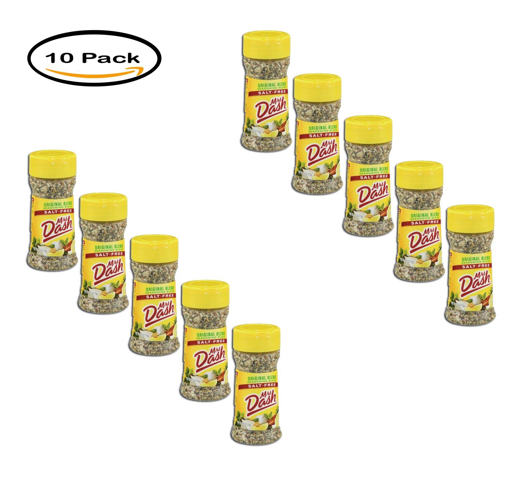 PACK OF 10 - Mrs. Dash Salt-Free Seasoning Blend Original Blend, 2.5 OZ
