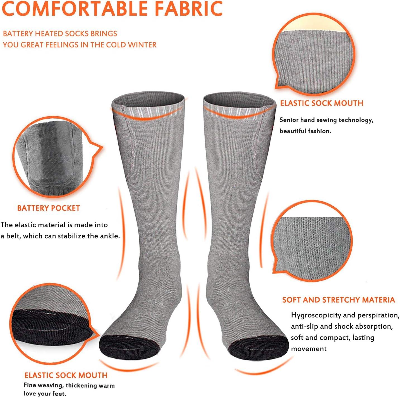 M.Jone Heated Socks Winter Warm Cotton Socks Camping//Fishing//Cycling//Motorcycling//Skiing/… Electric Heating Socks for Men Women