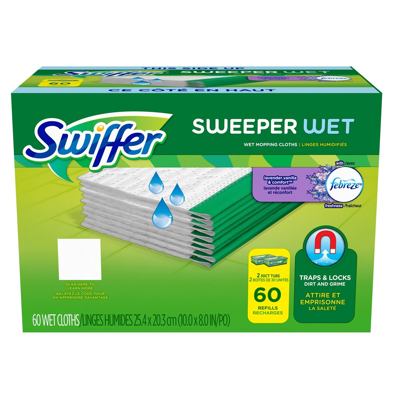 Swiffer Wet Refills, Open Window Fresh (60ct.)