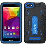 BLU Advance 5.0 Case, Premium Rugged Heavy Duty Drop Proof Case With Kickstand For BLU Advance 5.0 -Black Navy