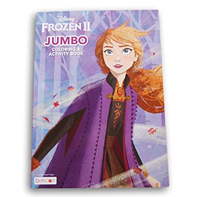 Princess Anna & Elsa Activity Book (Coloring Sheets, Mazes, Puzzles, Scrambles, Word Finds) 80 Pages: Toys & Games