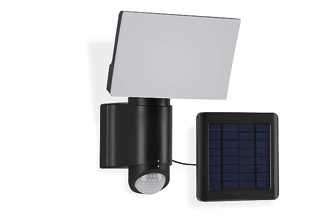 Telefunken – Lámpara LED de pared para exterior con sensor de movimiento, panel solar,