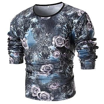 Hombre blusa deportes manga larga Otoño,Sonnena ❤ Camisa de corte slim de Fashion