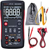 Bside EBTN Digital Multimeter 3-Line Display 9999 Counts Button Design True RMS Auto-Ranging DMM AC/DC Amp Volt Ohm Hz…