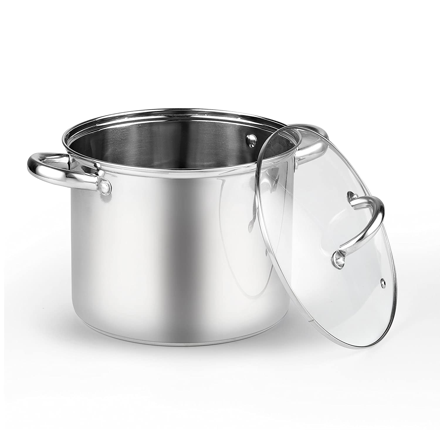 Cook N Home 2480 Stockpot with Lid, 6.5 quart, Stainless