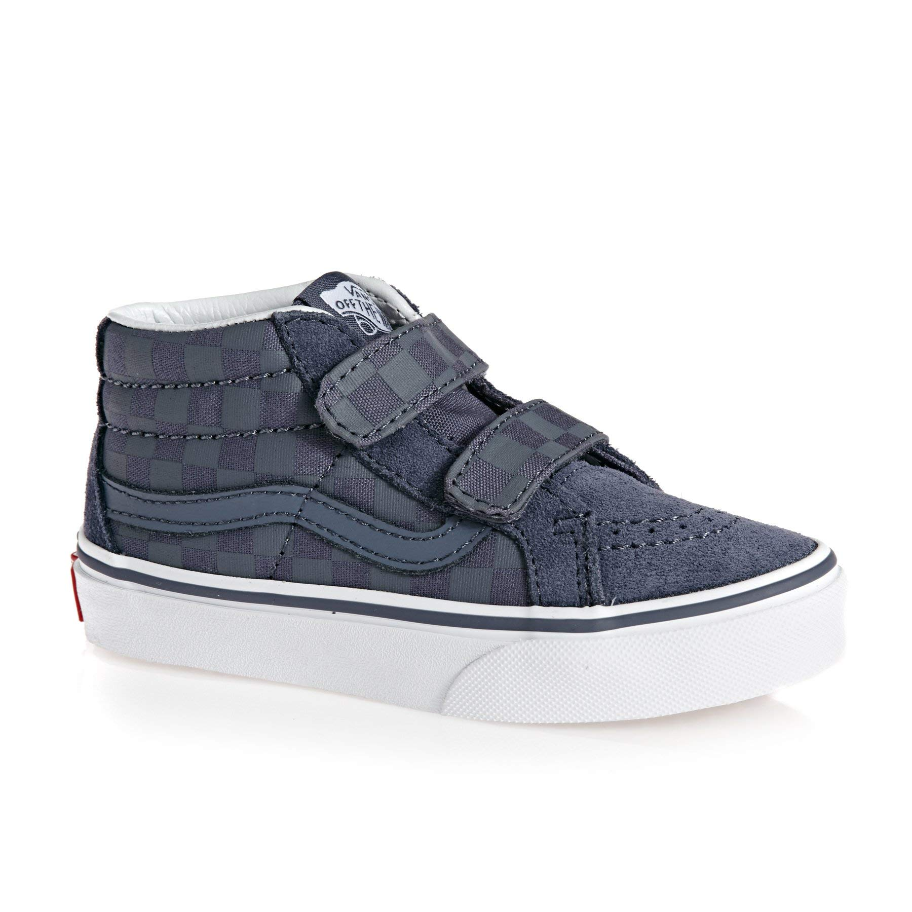 Vans Boy's SK8-Mid Reissue V Skate Shoes (1.5 M US Little Kid, (Checkerboard) Grisaille)