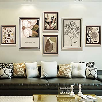 Bilderrahmen, Bilderrahmenwand Dekorative Gemälde Wohnzimmer Schlafzimmer  Amerikanischer Stil Sofa Hintergrund Wand Hängende Gemälde Einfach Gang