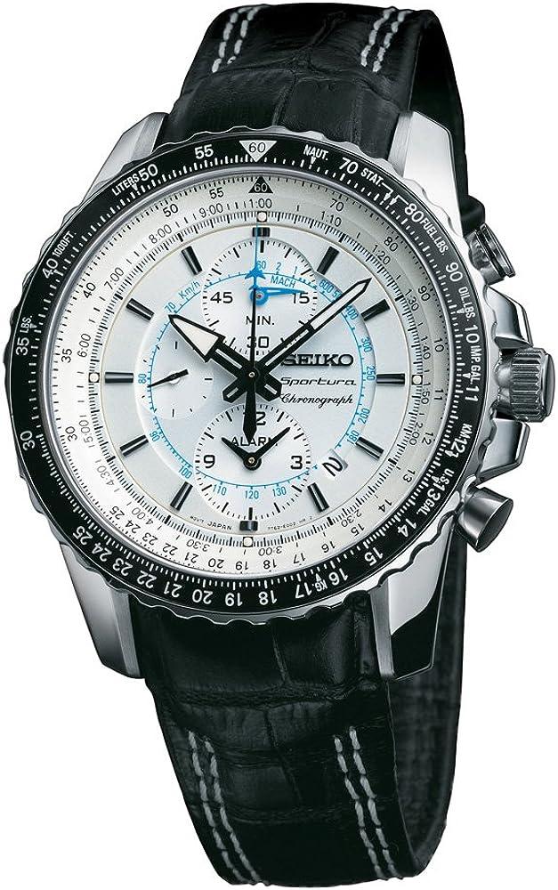 Seiko Reloj analogico para Hombre de Cuarzo con Correa en Piel SNAF01P1