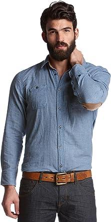 edc by Esprit Hombre Tiempo Libre Camisa 111 cc2 F001 Blau (Vancouver Blue 467) 50: Amazon.es: Ropa y accesorios