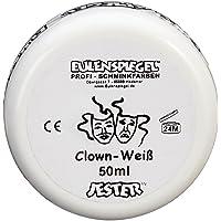 Eulenspiegel Profi-Schminkfarben GmbH Schminke Clown-weiß (1 x 50 ml)