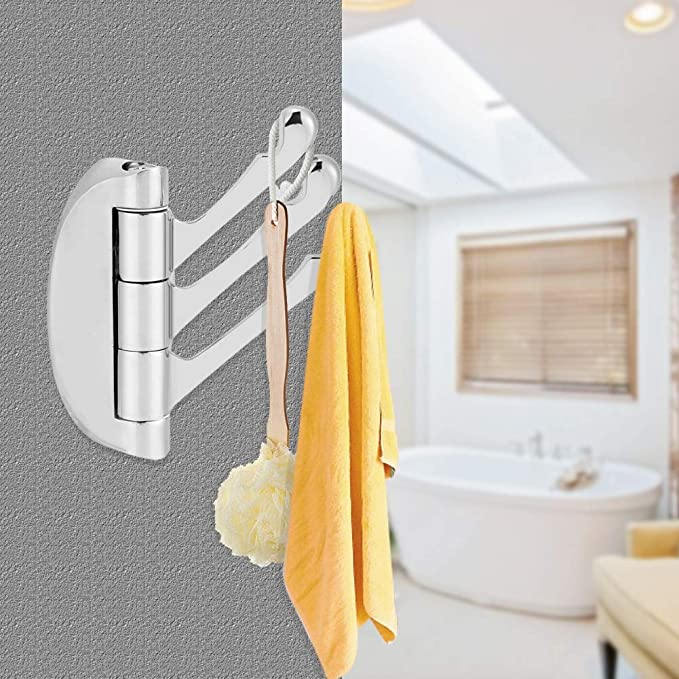 Drgger Porta Asciugamano Supporto a Parete. Porta Asciugamani Appendiabiti Camera da Letto Bagno Gancio Girevole a Tre Bracci