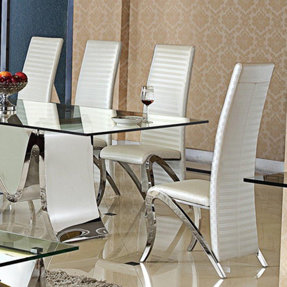 Designer Esszimmerstühle esszimmerstuhl marta design kunstleder weiß stuhl stühle esszimmer