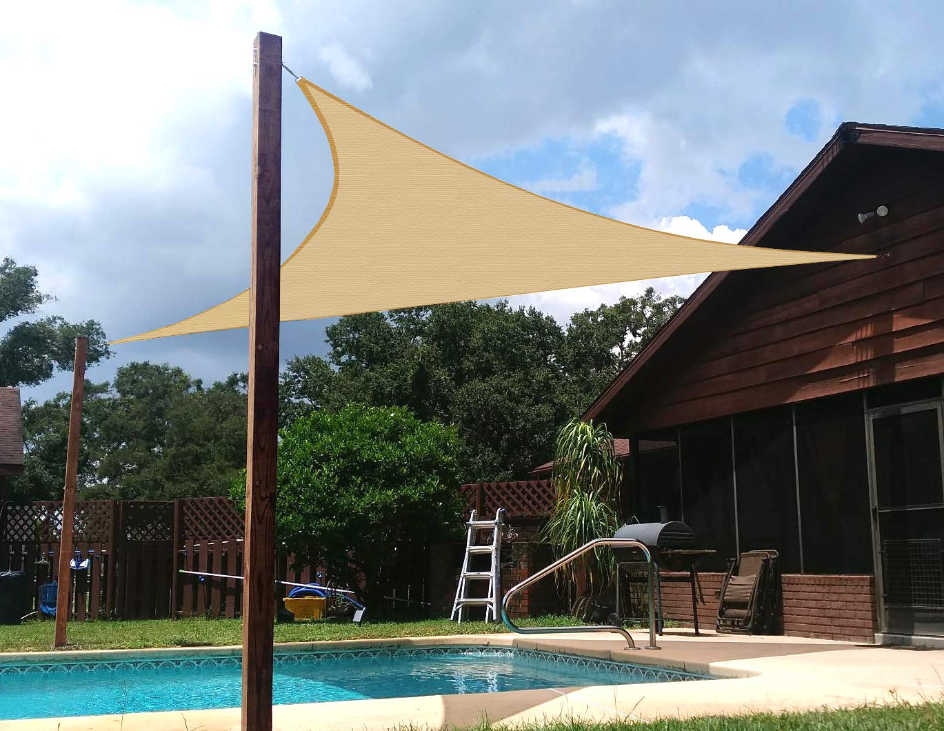 SUNNY GUARD Triangle Shade Sail - 13 ft. x 13 ft. x 13 ft.