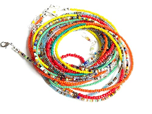 Set of 2 Waist Beads Belly chains Anklet Necklace Belly Beads For Weight Loss Bracelet Christmas gift African Waist Beads