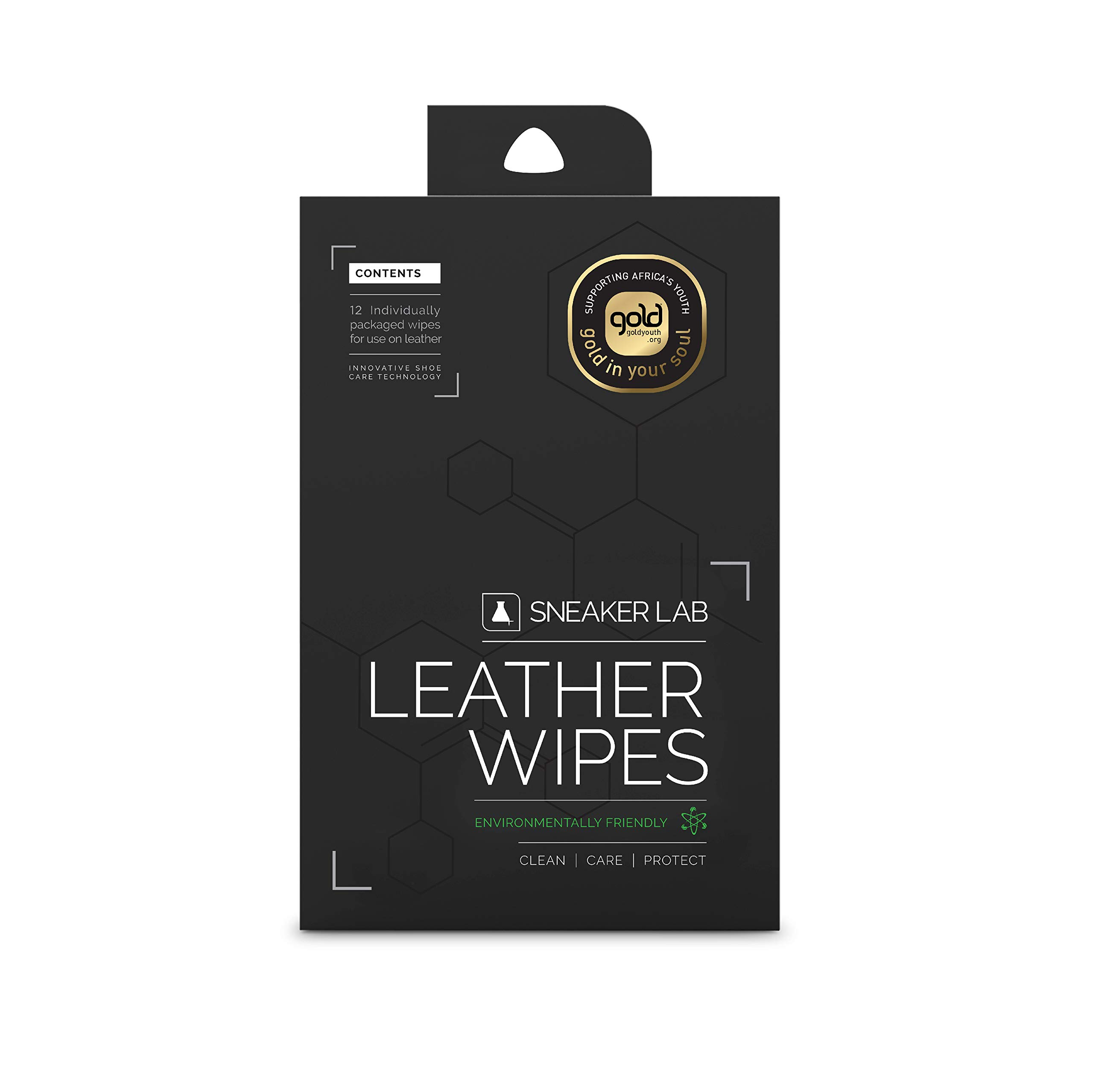 Leather Shoes Wipes By Sneaker LAB For On The Go Cleaning | 12 Individual Wipes Per Pack | Welcome To The Future Of Sneaker Care by SNEAKER LAB