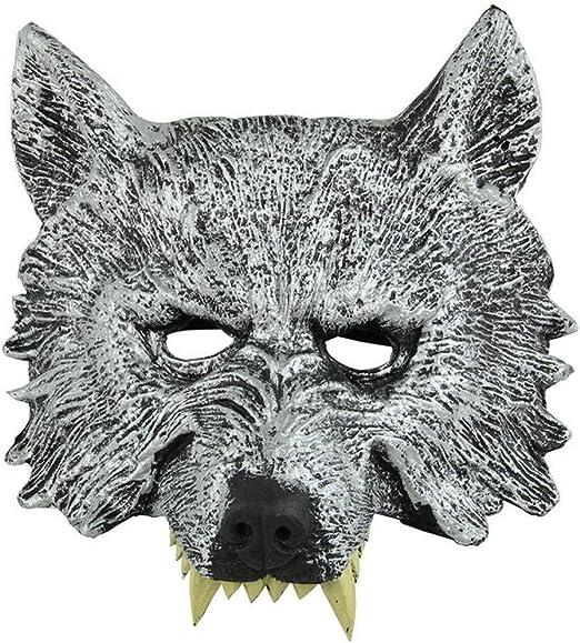 WANG XIN Máscara de Cabeza de Lobo Espeluznante Disfraz de ...