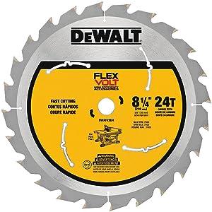 "DEWALT DWAFV3824 Flexvolt 24T Table Saw Blade, 8-1/4"""