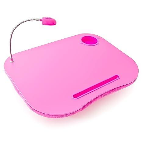 Soporte para ordenador portátil Mesa para portátil Con portavasos Regazo Color Rosa