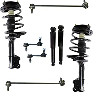 Detroit Axle - 8PC Front Struts & Coil Spring Assembly + Rear Shock Absorber Assembly w/Sway Bars for 2007 2008 2009 Hyundai Santa Fe