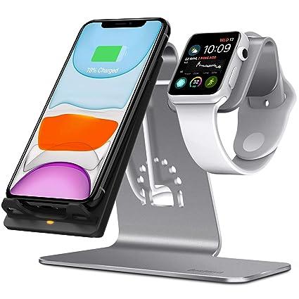 Bestand 2 en 1 Apple Watch Soporte & Soporte Cargador Inalámbrica para iPhone X/iPhone 8/8 Plus/Samsung Galaxy S8 Note 8 y Otros Dispositivos Que ...