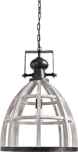 Creative Co-Op DA9597 Wood Metal Hanging Pendant Lamp