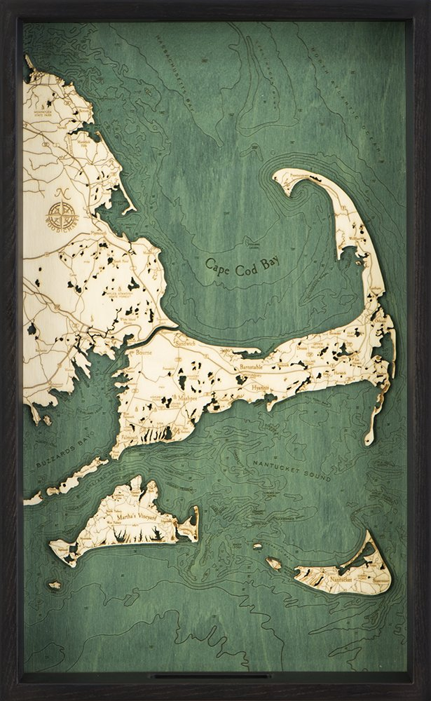 Cape Cod Serving Tray, 20'' x 13'' by Woodchart®