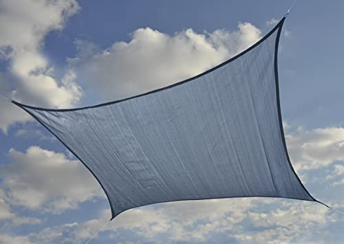 ShelterLogic 25767 Heavyweight 16 x 16 ft. Square Sea Blue Sun Shade Sail, 16 x 16